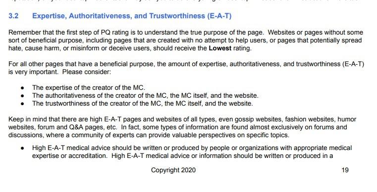 Yếu tố số 1: Tín hiệu E-A-T của Google