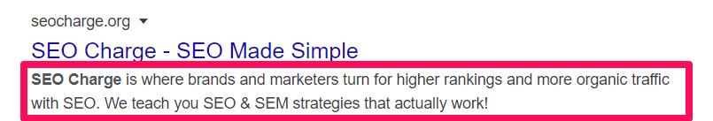 2. Giữ một mô tả meta đơn giản
