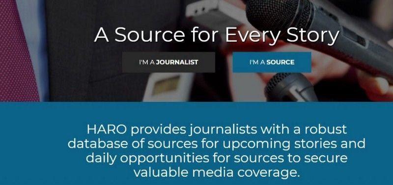 Thông qua HARO (Giúp phóng viên ra ngoài)