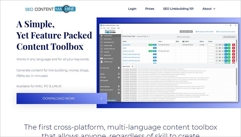 SEO Content Machine - Trình tạo bài viết SEO tốt nhất