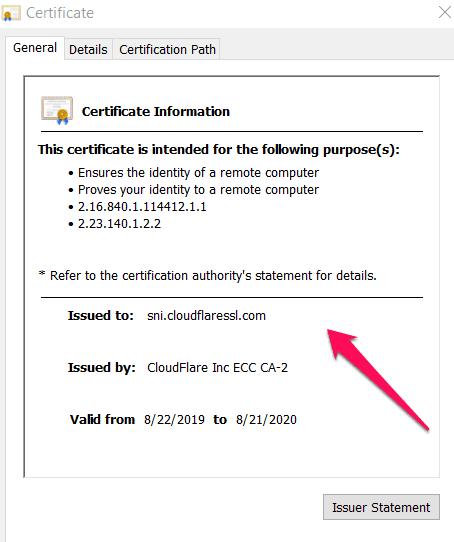 Cài đặt chứng chỉ SSL